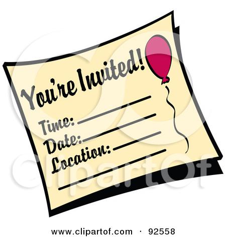 Birthday Invitation Clipart.