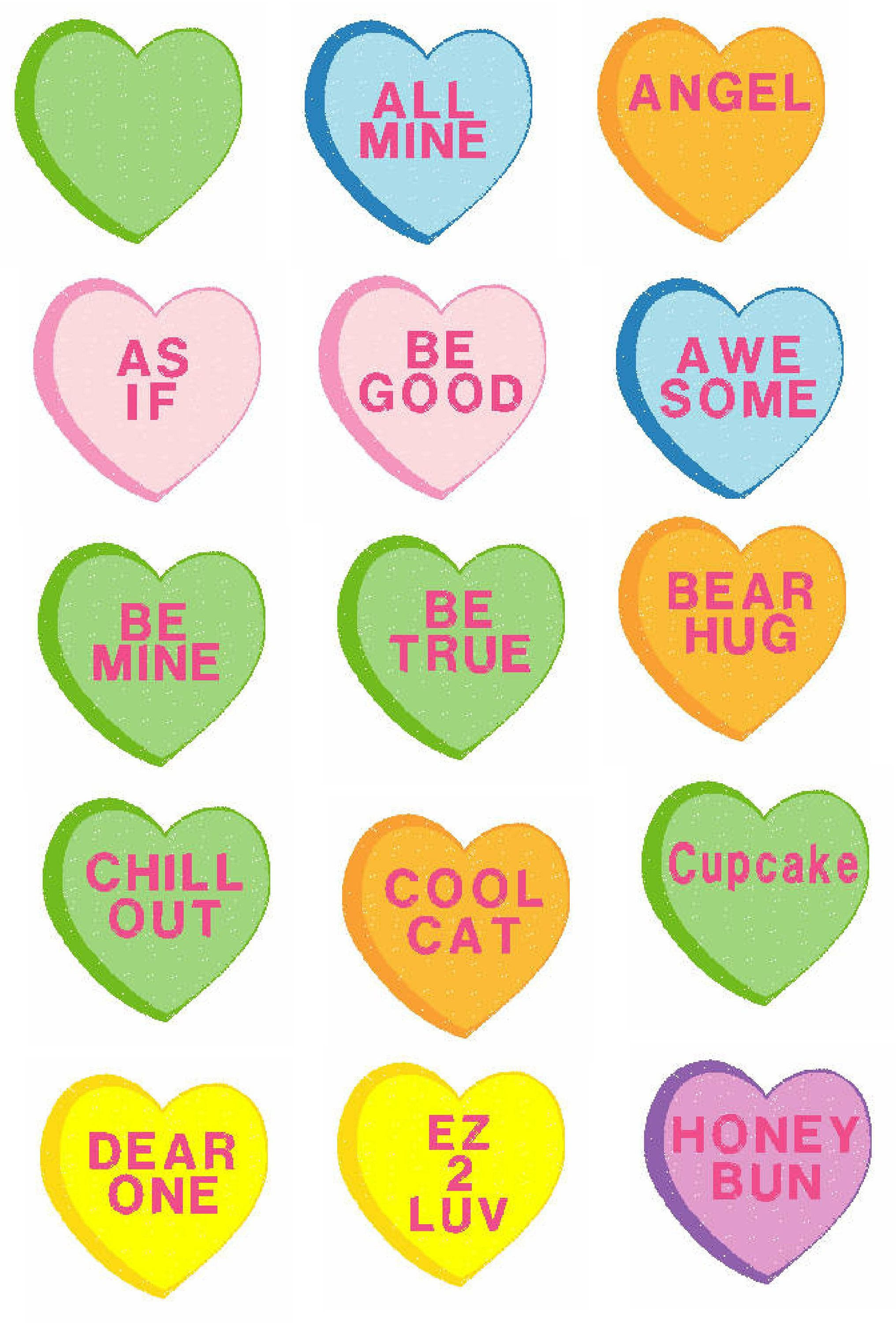 Valentine Candy Hearts.