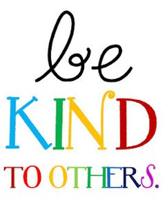 Be Kind Others Clip Art.