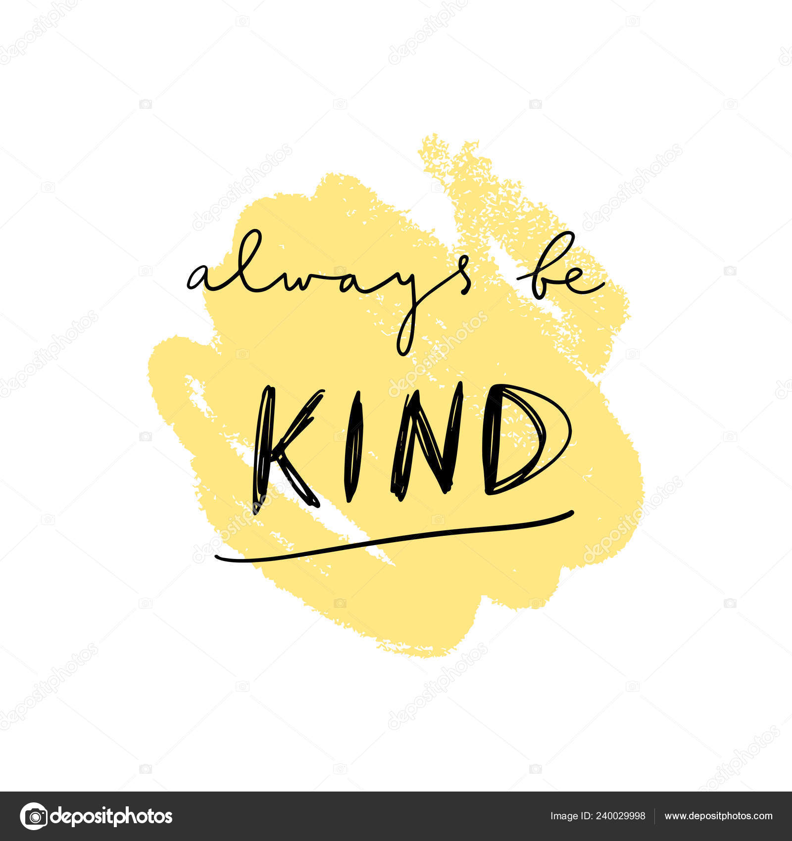 Clipart: be kind.