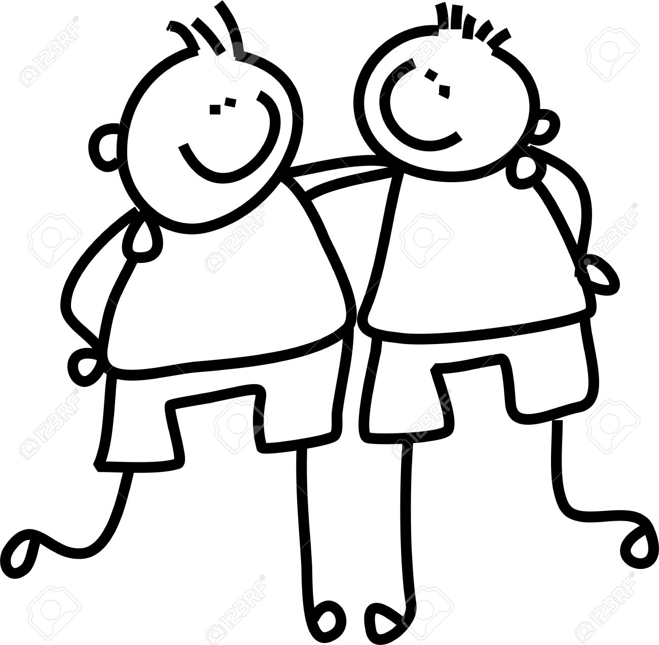 Friendship Clipart Black And White.