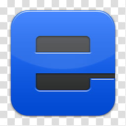 Quadrat icons, ie, blue letter e logo transparent background.