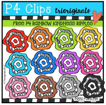 FREE P4 RAINBOW Kindness Ripple (P4 Clips Trioriginals Clip.