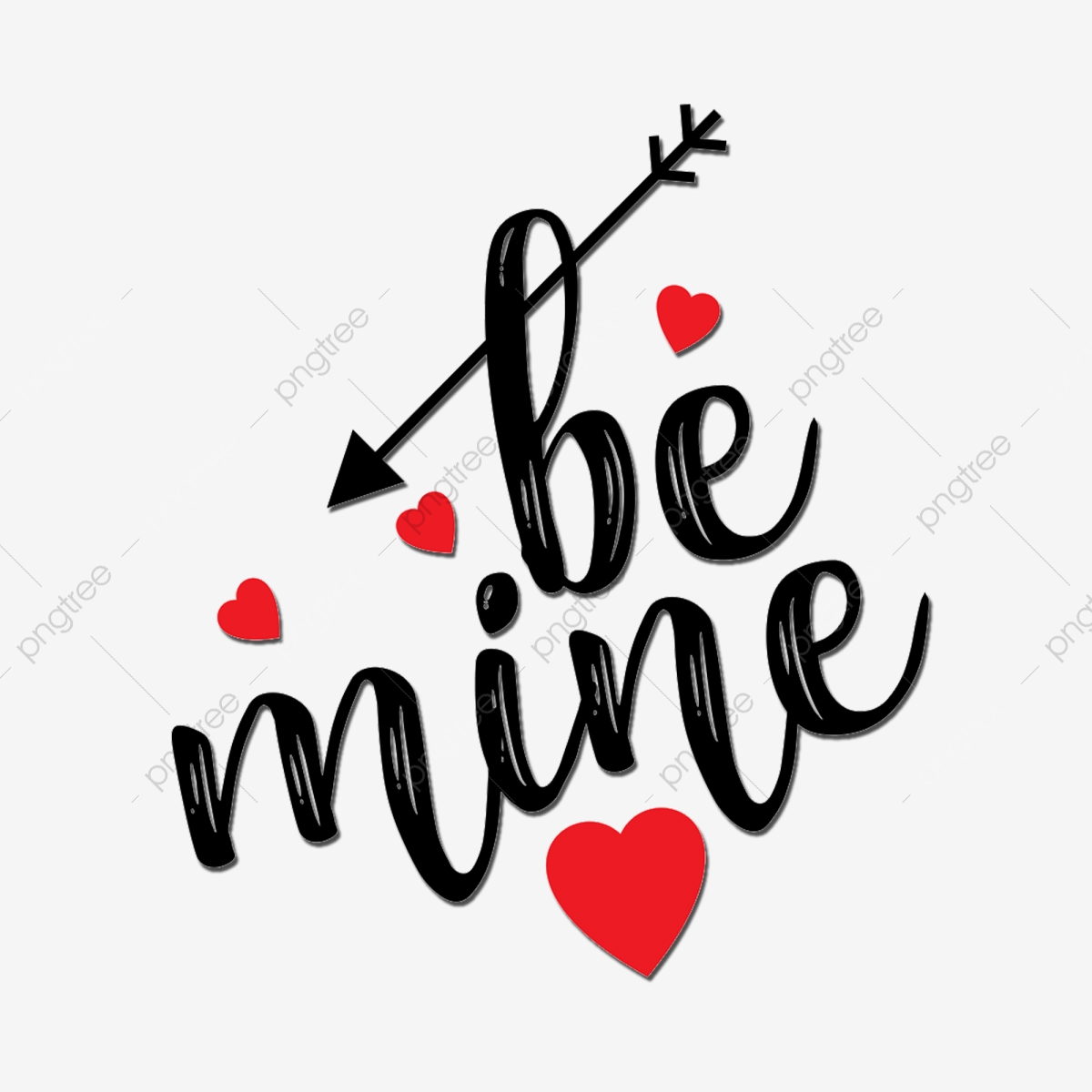 Be Mine Text, Cute, Text PNG Transparent Clipart Image and PSD File.