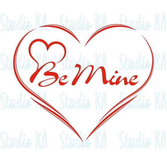 Love Svg file silhouette, Be mine Svg, Heart cut file Clipart, Heart Svg  for cricut, be mine craft Svg, Svg for Vinyl.