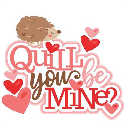 Headgehogs in Love scrapbook cut file cute clipart files for.