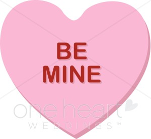 Pink Heart Be Mine Clipart.
