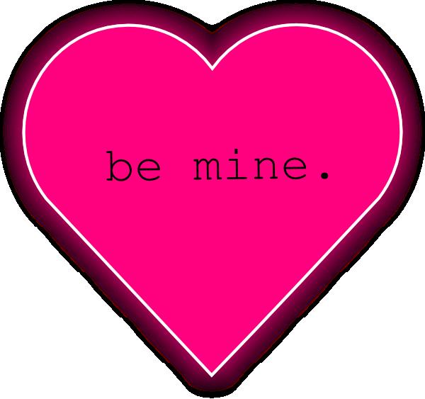 Be Mine Pink Heart Clip Art at Clker.com.