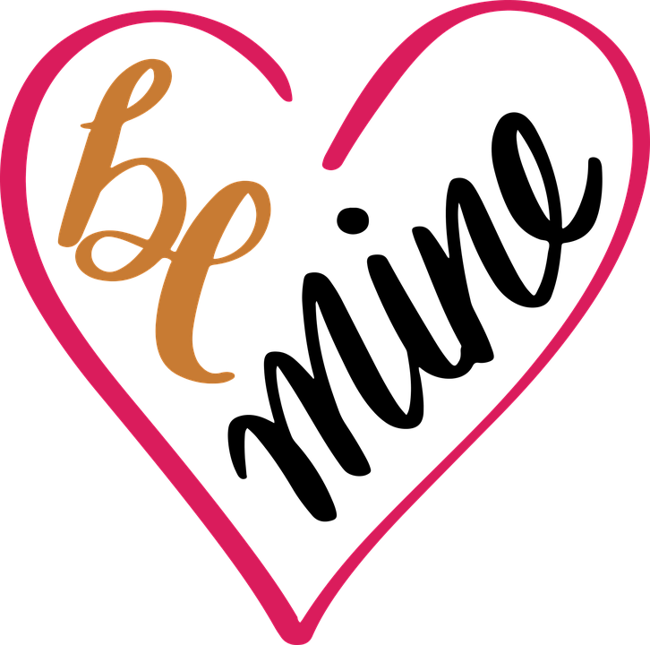 Be, Mine, Svg, Heart, Heart, Heart.