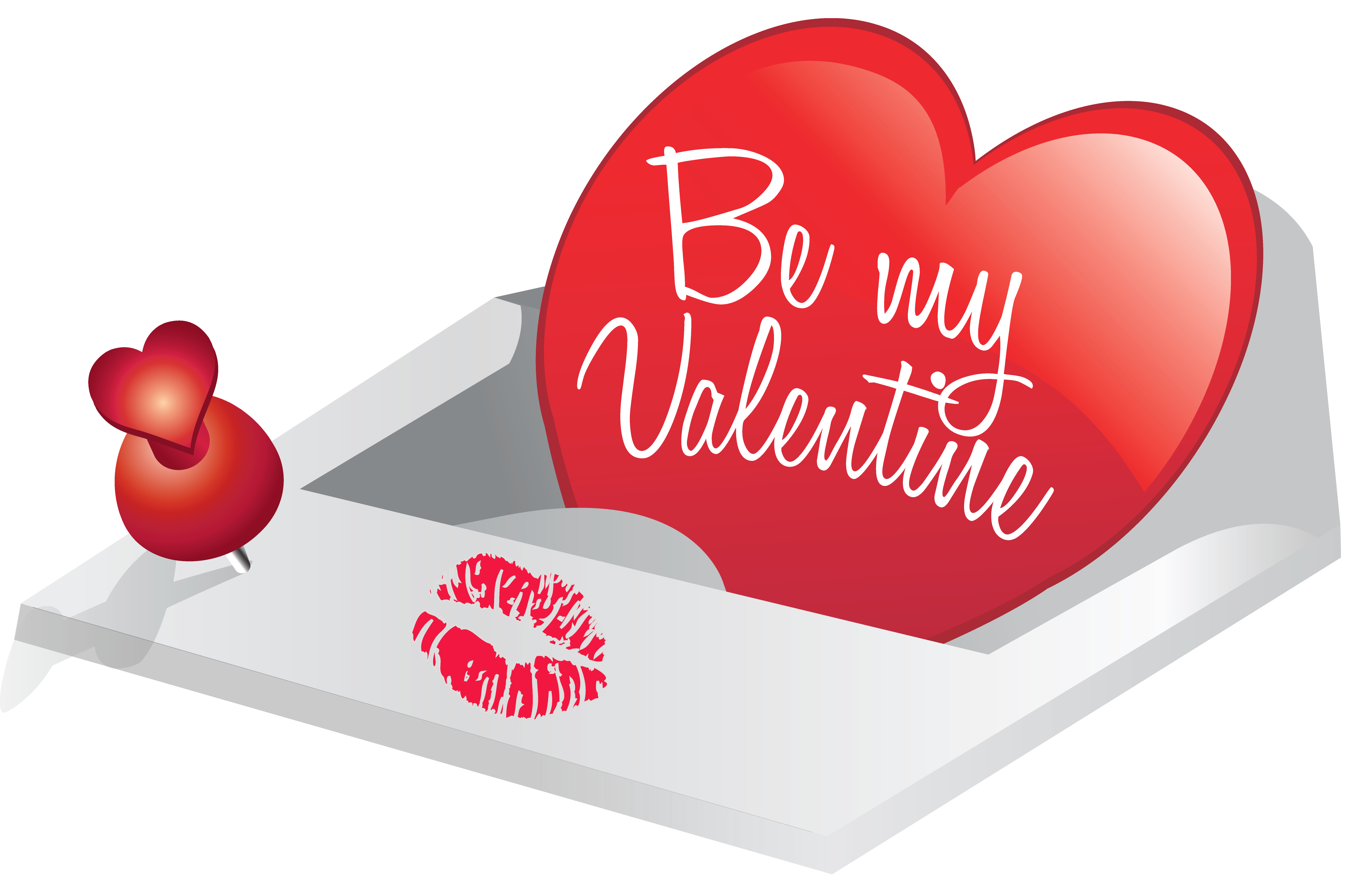 Be My Valentine PNG Clipart Picture.