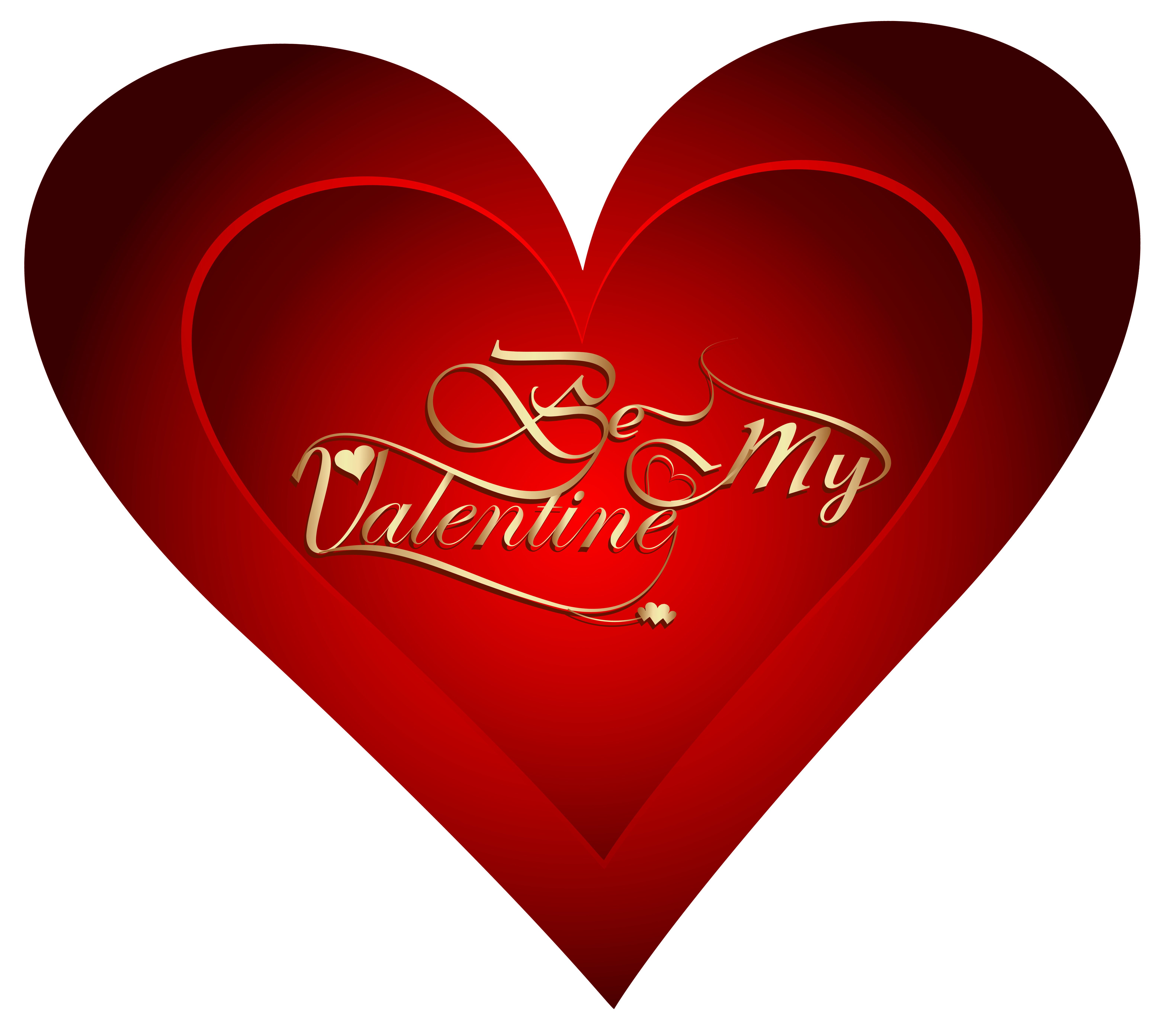 Be My Valentine Heart PNG Clipart Image.