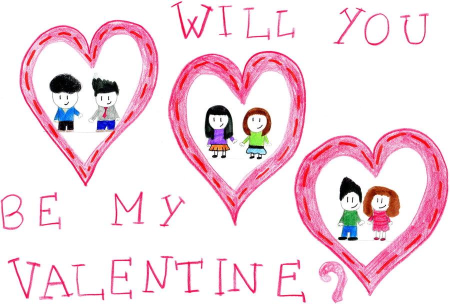 Be My Valentine clip art.