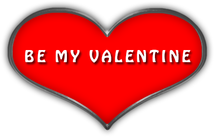 Download Red Heart With Be My Valentine.