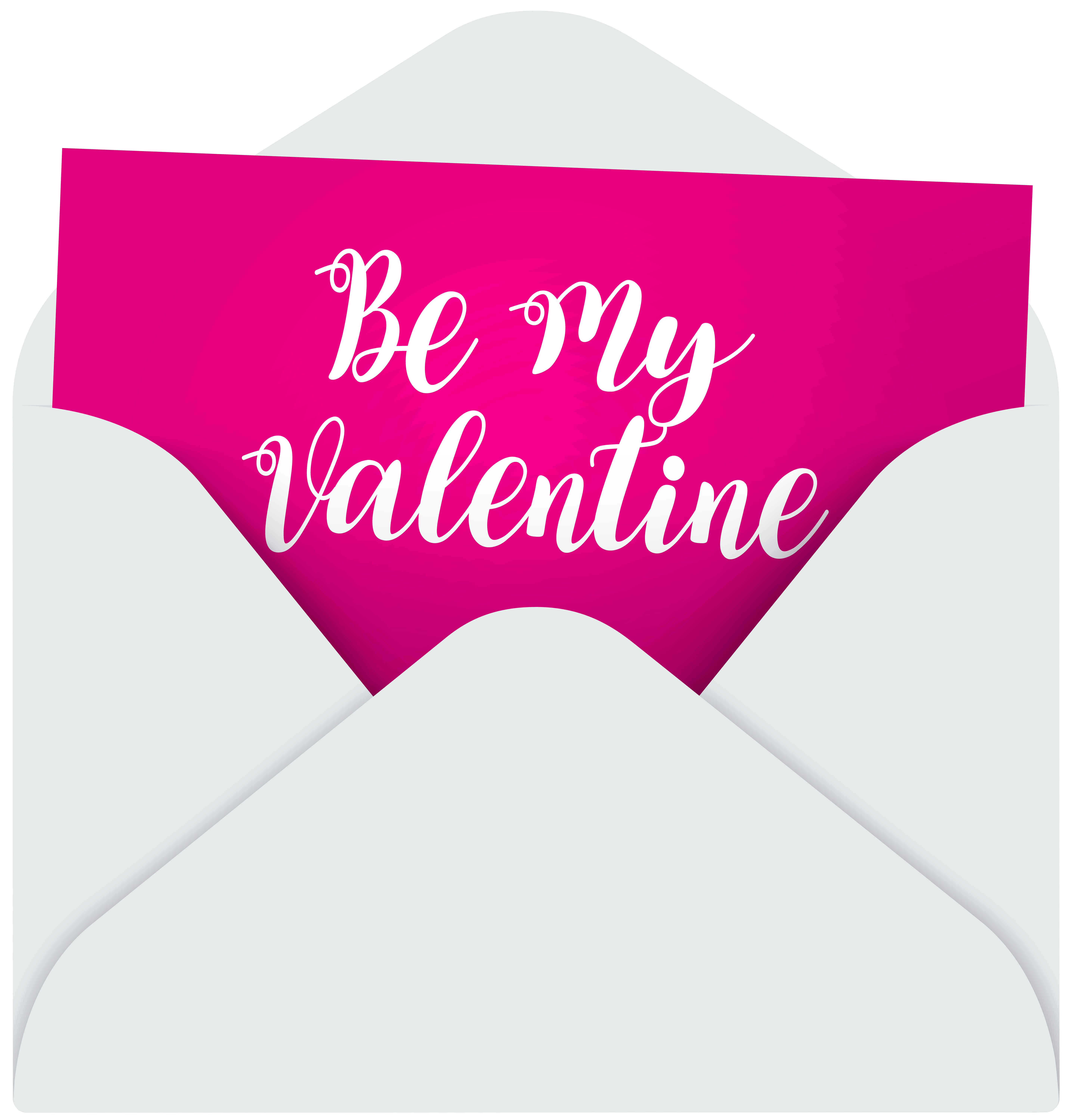 Be My Valentine Transparent PNG Image.