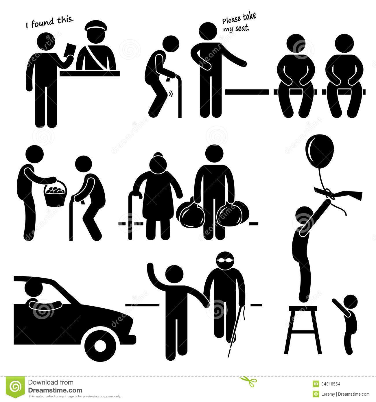 Helping People In Need Clip Art People being nice clipart.