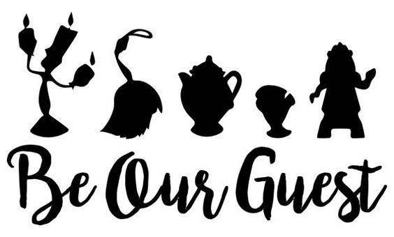 Be Our Guest .svg file for Cricut and Silhouette.