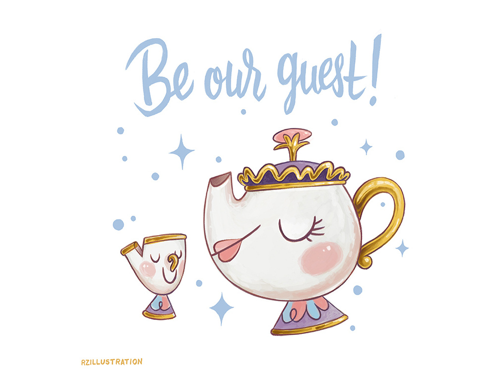 Be Our Guest by Rebecca Zomchek on Dribbble.