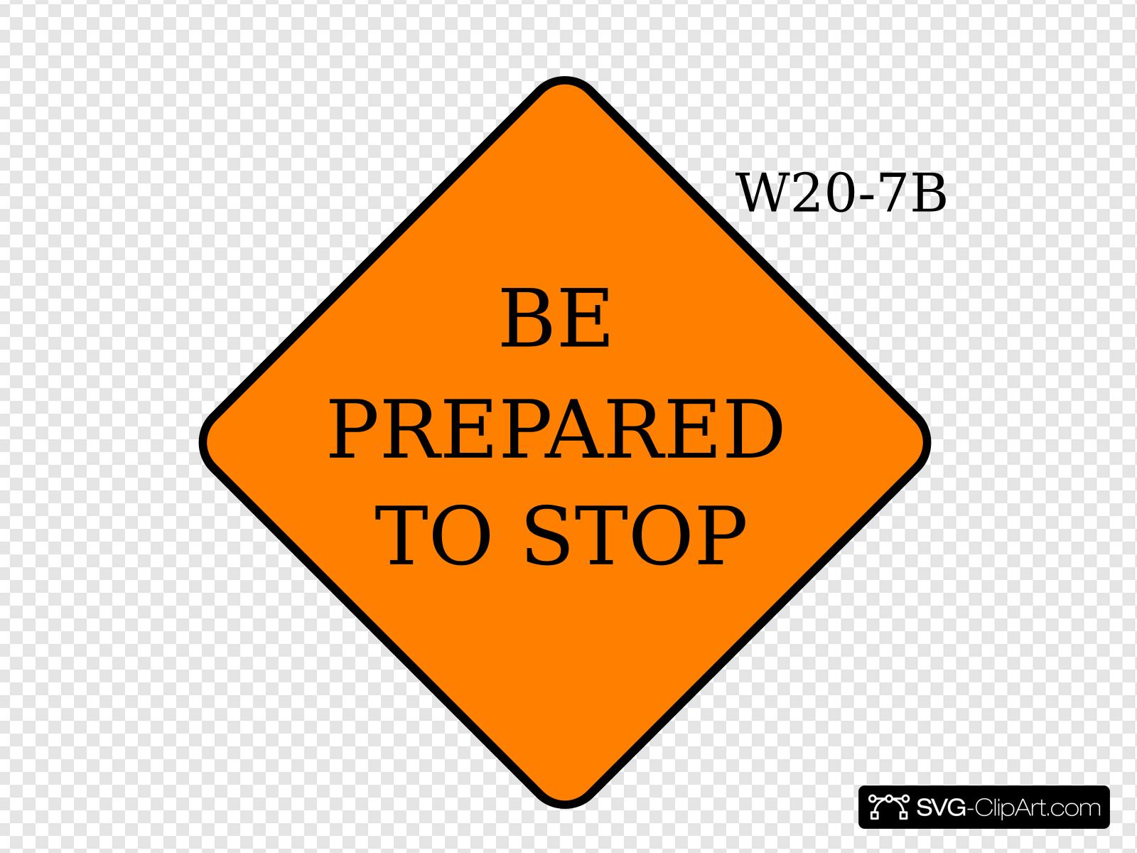Be Prepared To Stop Clip art, Icon and SVG.
