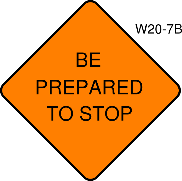 Be Prepared To Stop Clip Art at Clker.com.