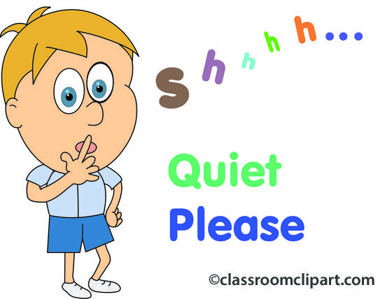 People Quiet Please 05 Classroom Clipart.