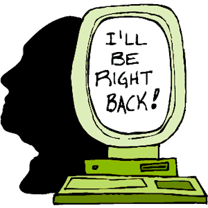 I\'ll Be Right Back clipart, cliparts of I\'ll Be Right Back.
