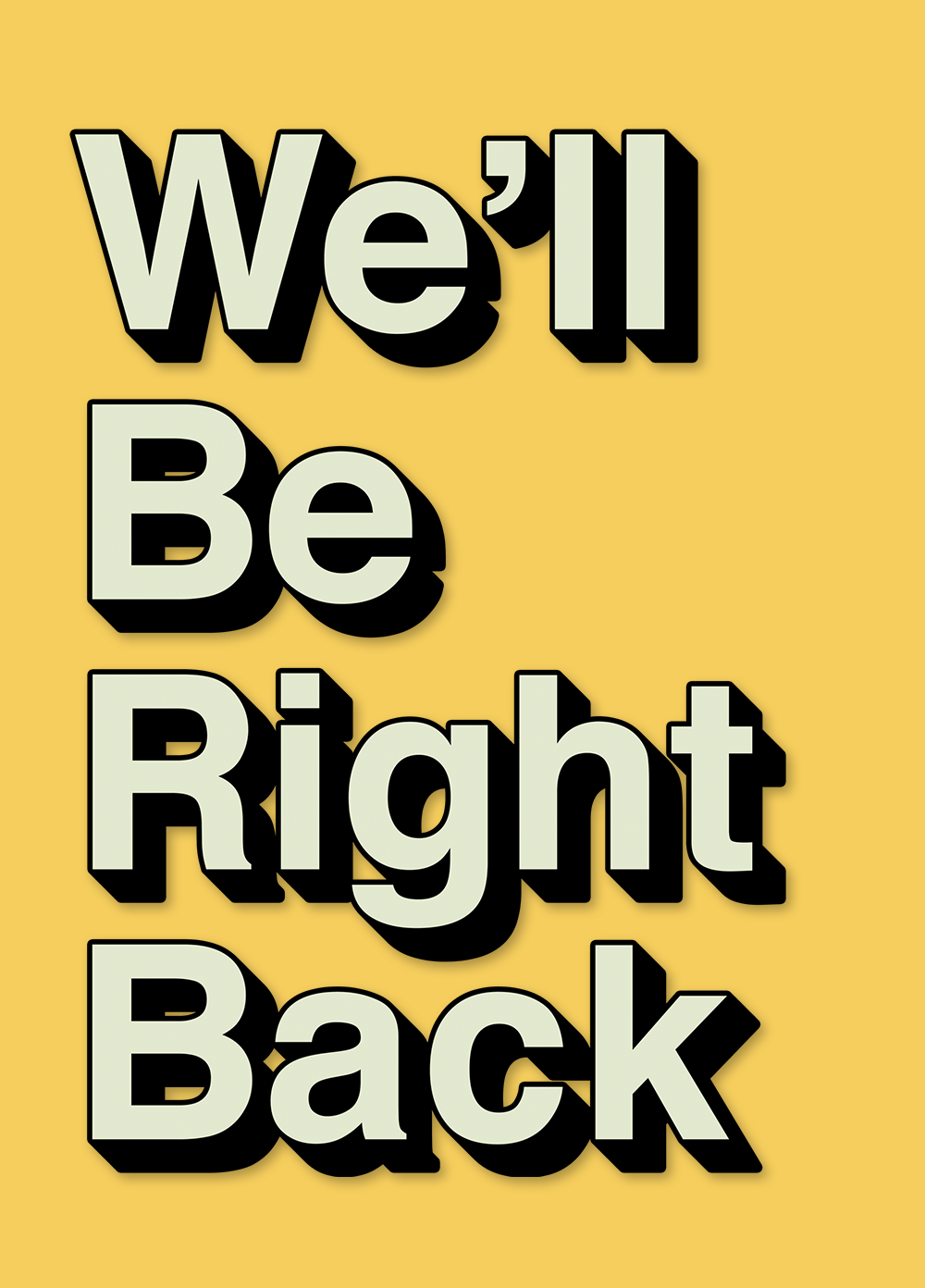 We'll Be Right Back Png Group (+), HD Png.
