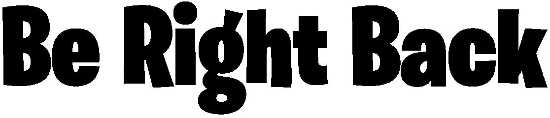 Be Right Back Fortnite Logo.