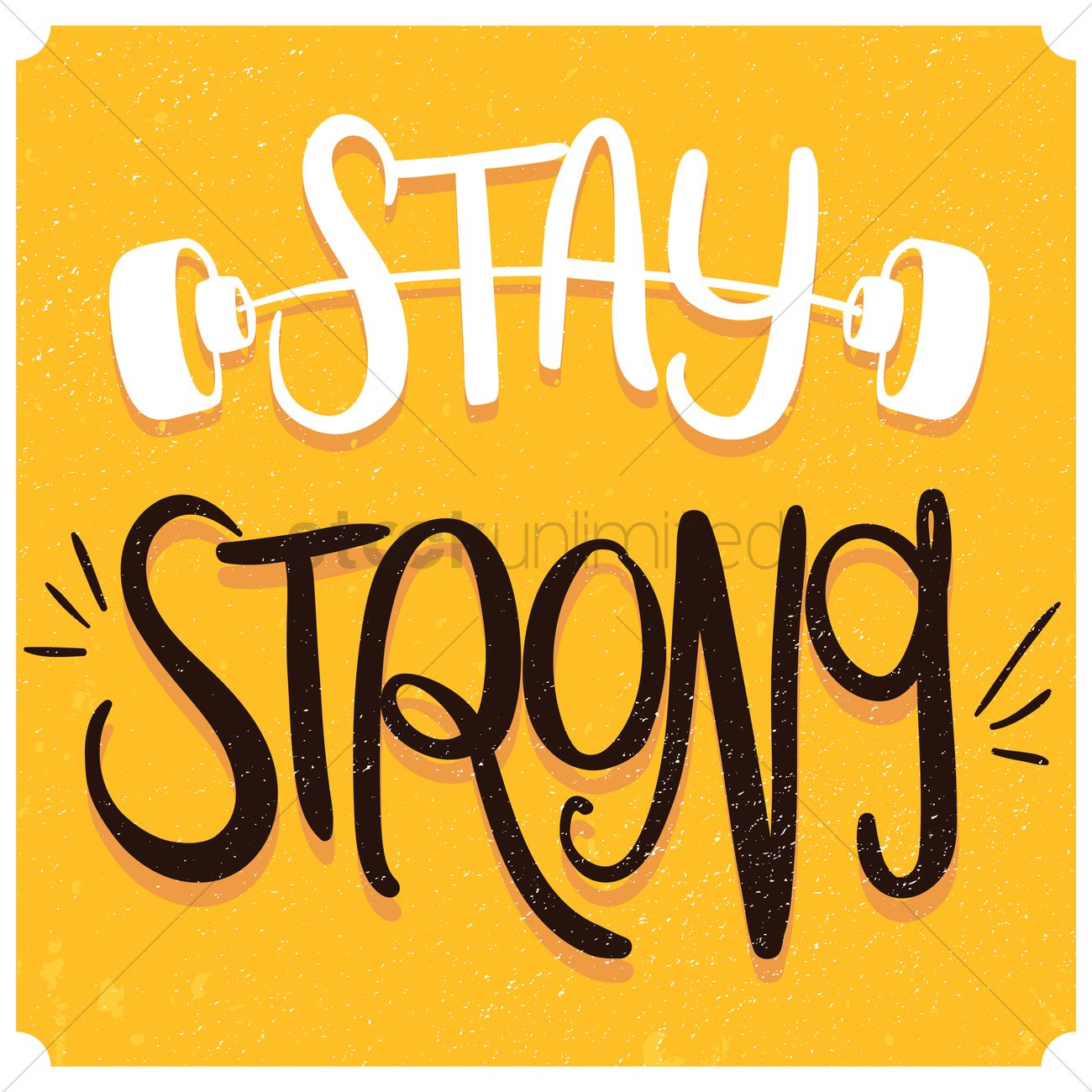 Stay strong typography design Vector Image.