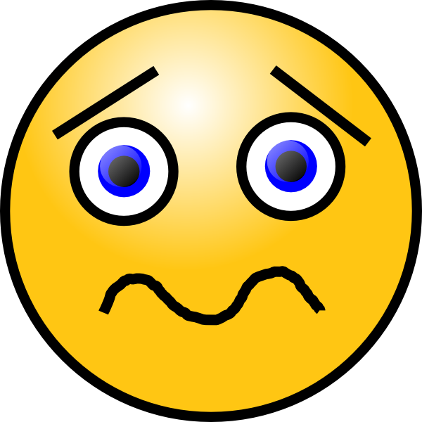 Shocked Sad Face Clipart.
