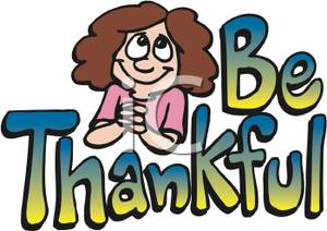 Being Thankful Clipart.