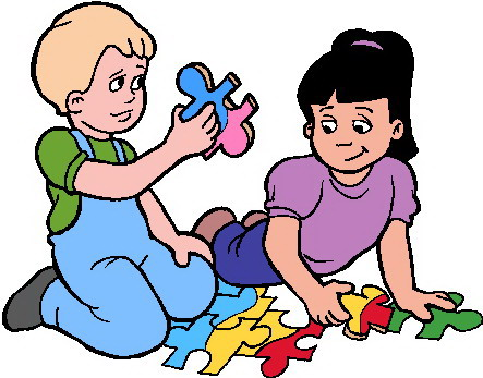 Playing Together Clipart.