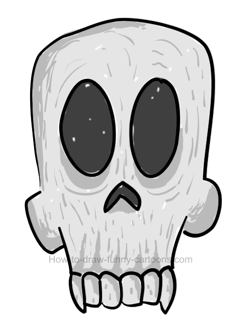 How to draw a skull clipart.
