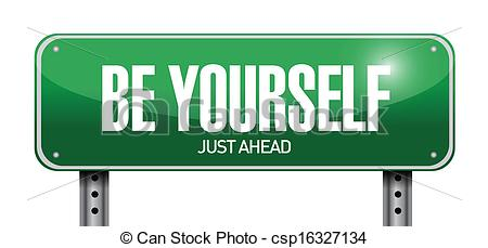 Vector of Be yourself.