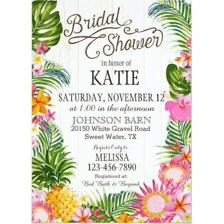 hawaiian themed bridal shower invitations.