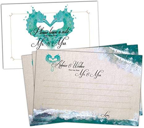50 Beach Wedding Advice Cards.