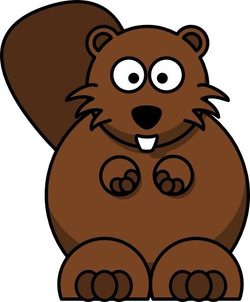 Cartoon Beaver clip art Free vector in Open office drawing.