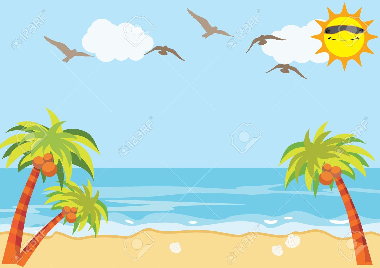 Sunny day beach clipart 8 » Clipart Station.