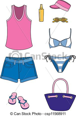 Beach Clothes Clipart.
