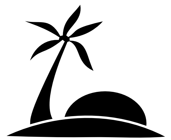 Beach Black and white Clip art.