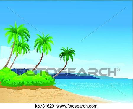 Beach background Clip Art.