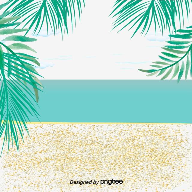 Summer Beach Background Decoration, Background Clipart, Great.