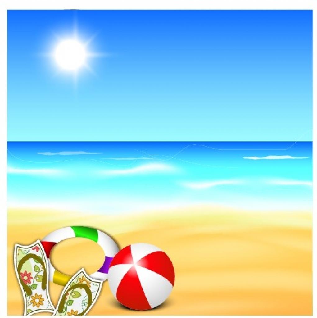 Summer Beach Background Clipart.