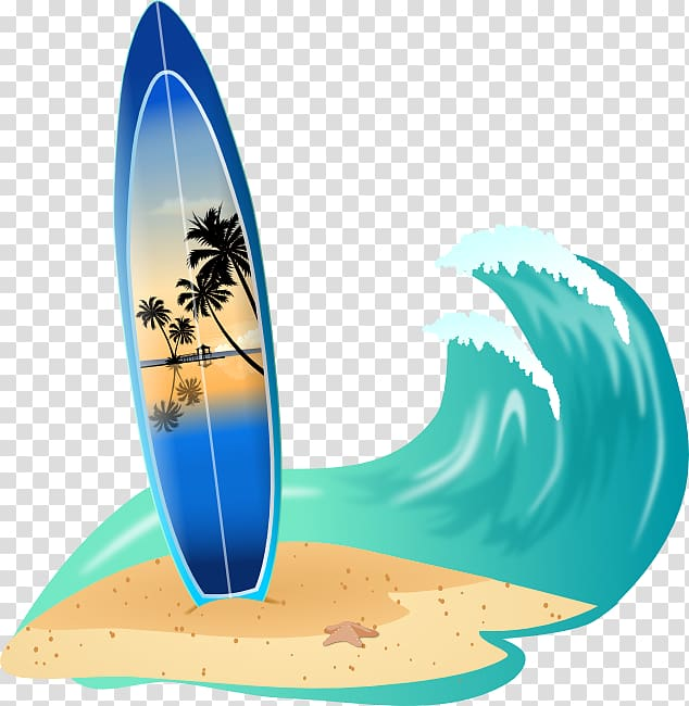 Surfboard Big wave surfing , Beach Waves transparent.