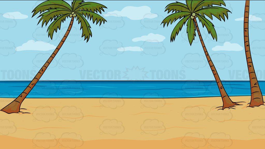 A Calm Beach Background.
