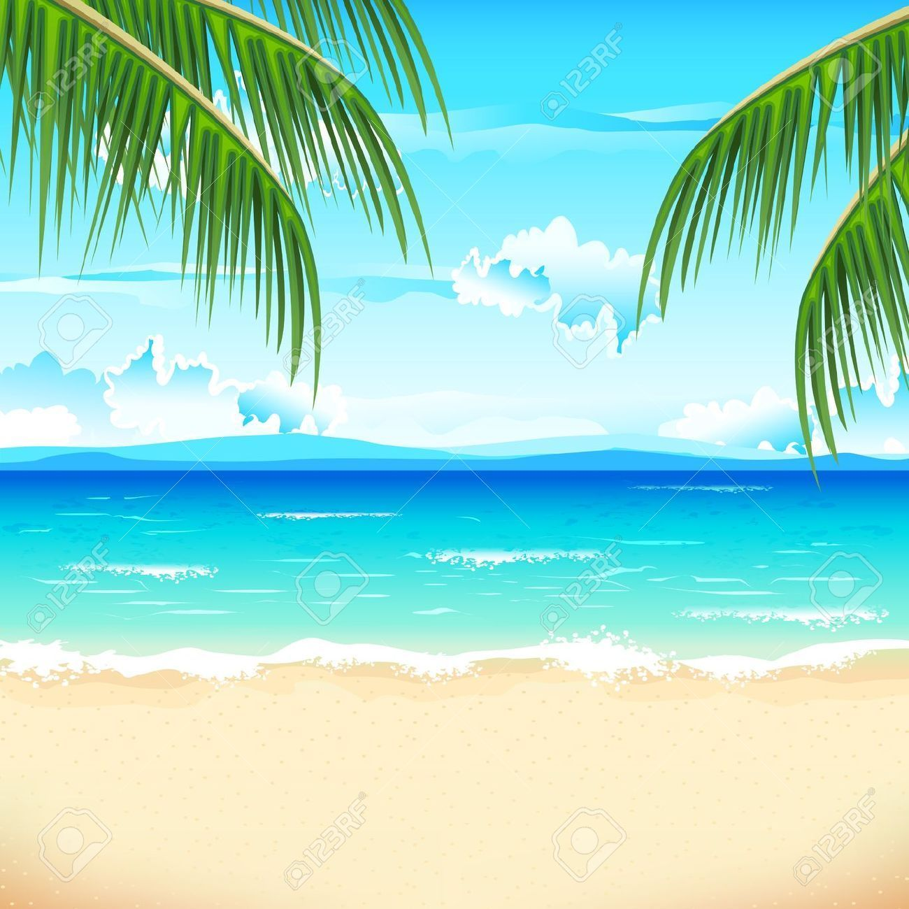 Beach backgrounds clipart 8 » Clipart Portal.