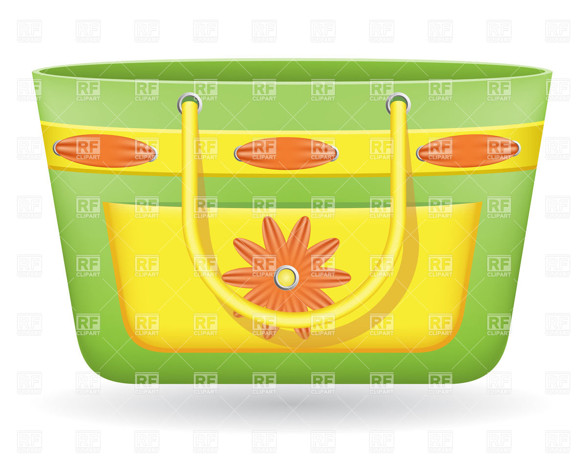 Beach bag Stock Vector Image.