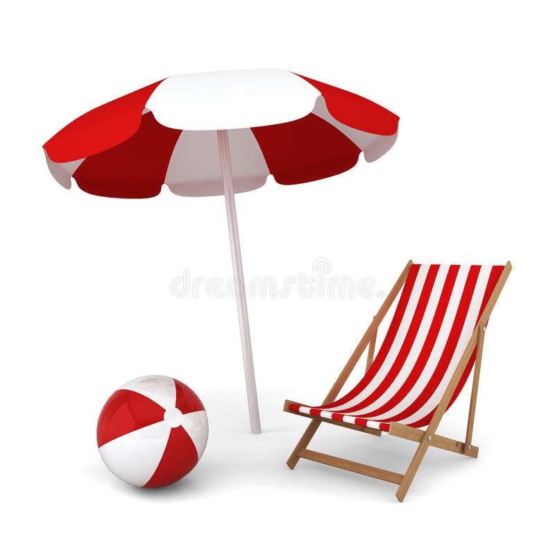 Ball Beach Umbrella Stock Illustrations.