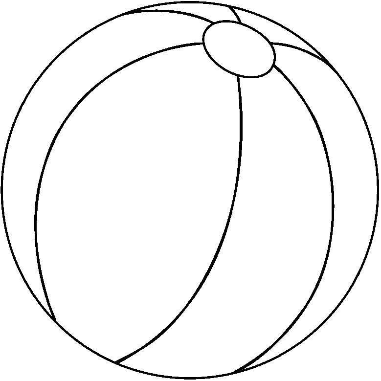 Free Black And White Beach Ball, Download Free Clip Art.