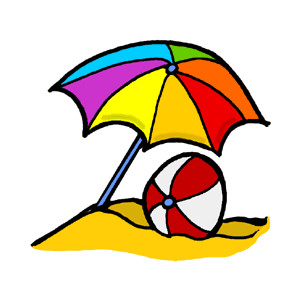 Umbrella Beach Ball Clipart.