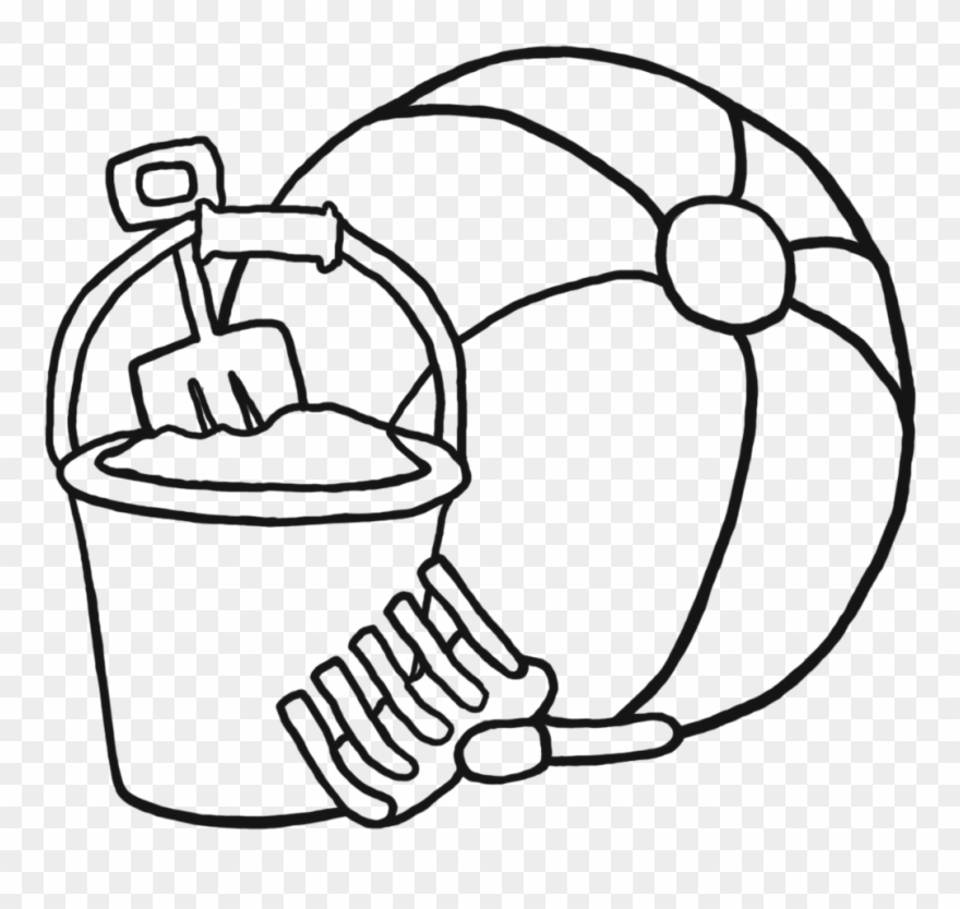 Beach Ball Clipart Black And White 6 Clip Art Coloring.